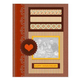 glücklicher Jahrestag (Einklebebuch) Postkarte