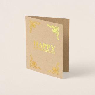 Glücklicher Jahrestag Folienkarte