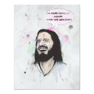 Glücklicher Jesus 10,8 X 14 Cm Einladungskarte