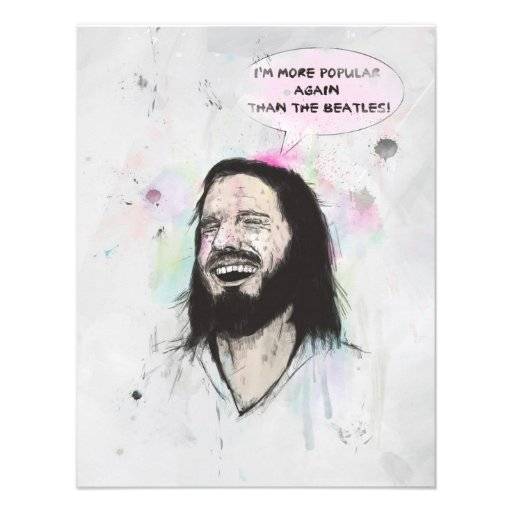 Glücklicher Jesus Individuelle Ankündigskarten