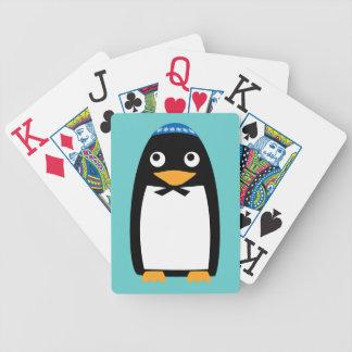Glücklicher jüdischer PinguinYarmulke Chanukkas Bicycle Spielkarten