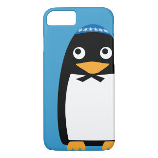 Glücklicher jüdischer PinguinYarmulke Chanukkas iPhone 8/7 Hülle