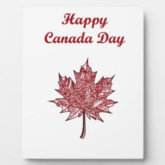 Glücklicher Kanada-Tag Fotoplatte