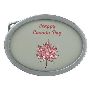 Glücklicher Kanada-Tag Ovale Gürtelschnallen