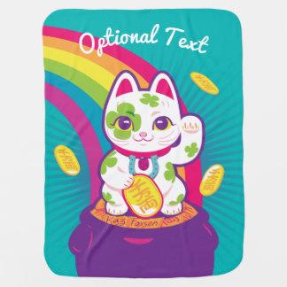 Glücklicher Katze Maneki Neko viel Glück-Topf Gold Babydecke