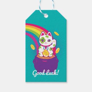 Glücklicher Katze Maneki Neko viel Glück-Topf Gold Geschenkanhänger