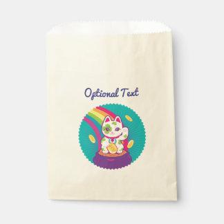 Glücklicher Katze Maneki Neko viel Glück-Topf Gold Geschenktütchen