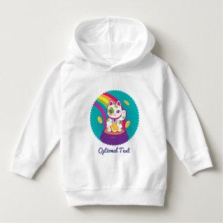 Glücklicher Katze Maneki Neko viel Glück-Topf Gold Hoodie