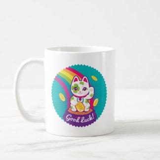 Glücklicher Katze Maneki Neko viel Glück-Topf Gold Kaffeetasse