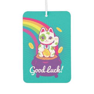 Glücklicher Katze Maneki Neko viel Glück-Topf Gold Lufterfrischer