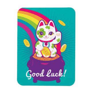 Glücklicher Katze Maneki Neko viel Glück-Topf Gold Magnet