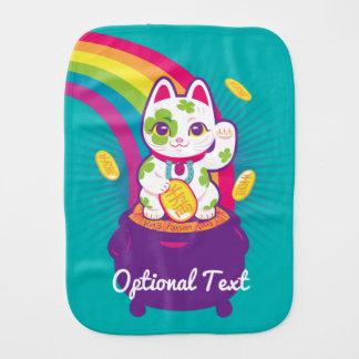 Glücklicher Katze Maneki Neko viel Glück-Topf Gold Spucktuch
