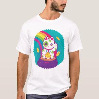 Glücklicher Katze Maneki Neko viel Glück-Topf Gold T-Shirt