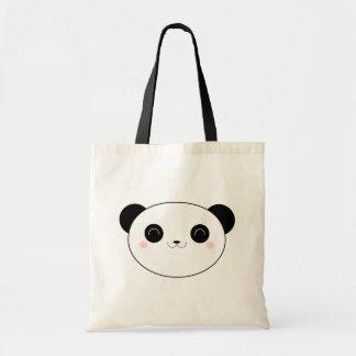 Glücklicher Kawaii Panda-Bär Budget Stoffbeutel