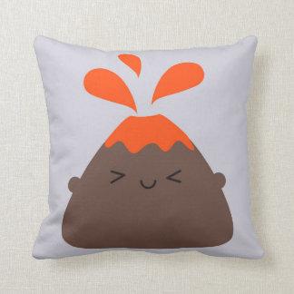 Glücklicher Kawaii Vulkan Kissen