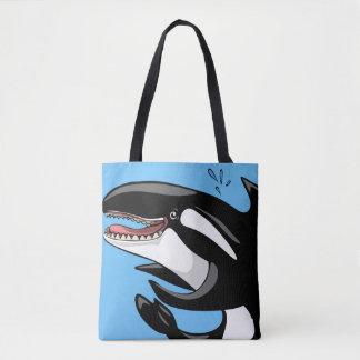 Glücklicher Killerwal Tasche
