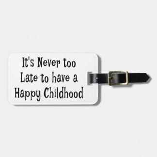 Glücklicher Kindheits-Gepäckanhänger Kofferanhänger