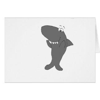Glücklicher klatschender Cartoon-Haifisch Karte
