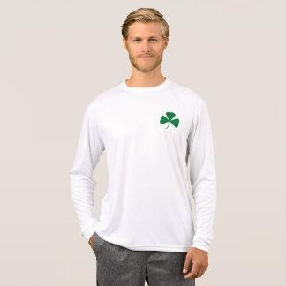 Glücklicher Klee-lange Hülsen-Spitze T-Shirt