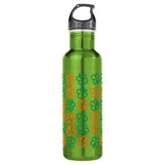 Glücklicher Klee mit vier Blättern Trinkflasche