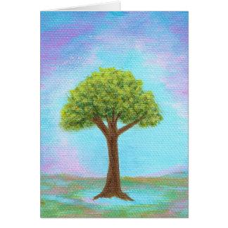 Glücklicher kleiner Baum-wunderliches Grußkarte