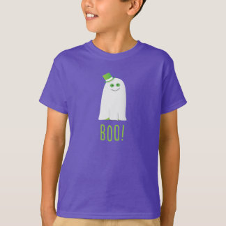 Glücklicher kleiner Geist-HalloweenBoo! T - Shirt