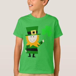Glücklicher kleiner Kobold-Kinder grün T-Shirt
