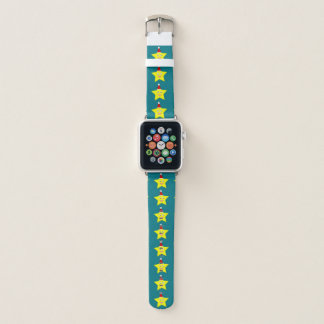 Glücklicher kleiner Weihnachtsstern Apple Watch Armband