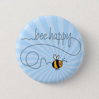 glücklicher Knopf der Biene Hinter Runder Button 5,7 Cm