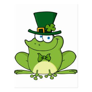 Glücklicher Kobold-Frosch Postkarte