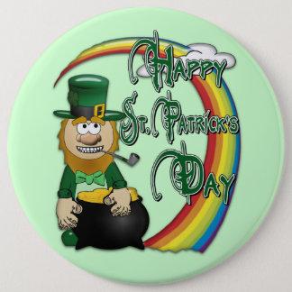 Glücklicher Kobold St. Patricks Tages Runder Button 15,3 Cm