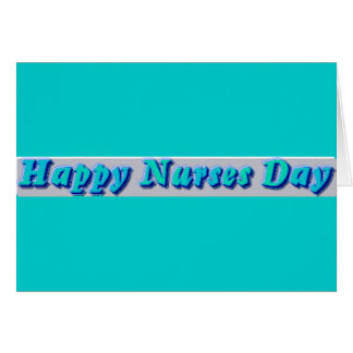 Glücklicher Krankenschwester-Tag Karte