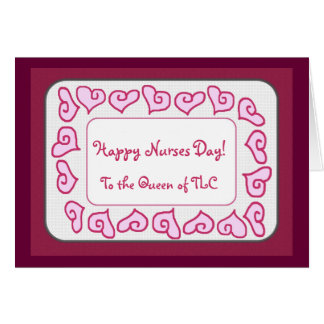 Glücklicher Krankenschwester-Tag zur Königin von Karte