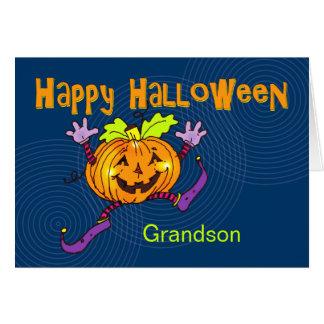 Glücklicher Kürbis-glücklicher Halloween-Enkel Karte