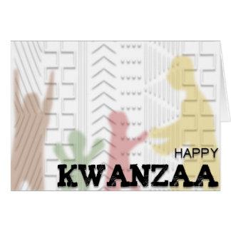 Glücklicher Kwanzaa-Schlamm-Stoffentwurf MULTI Karte