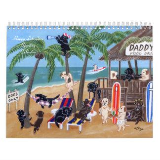 Glücklicher Labradors sportlicher Kalender 2017