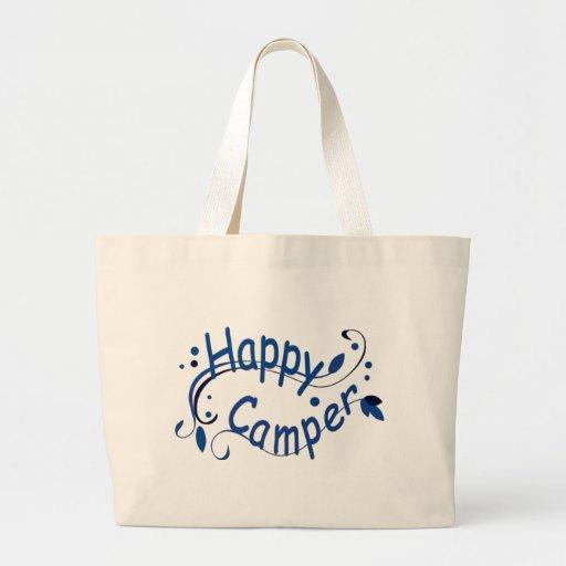 Glücklicher Lagerbewohner-blaue Taschen-Tasche