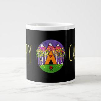Glücklicher Lagerbewohner-Tasse Jumbo-Tasse