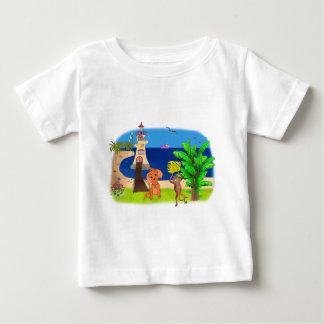 Glücklicher Leuchtturm durch Happy Juul Company Baby T-shirt
