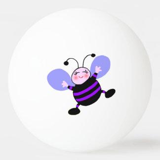Glücklicher lila BienePing Pong Ball Tischtennis Ball
