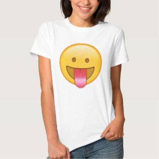 Glücklicher, lustiger Zunge heraus emoji T - Shirt