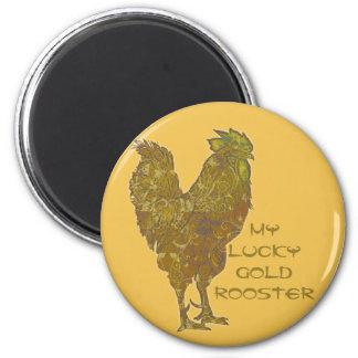 Glücklicher Magnet des Goldhahns |