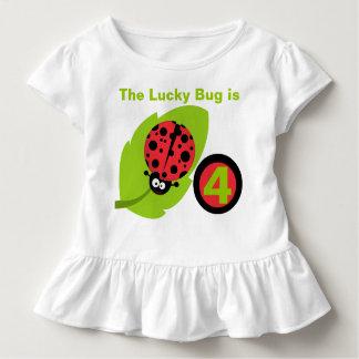 Glücklicher Marienkäfer-kundengerechter Kleinkind T-shirt