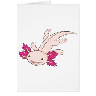 Glücklicher mexikanischer Axolotl Karte