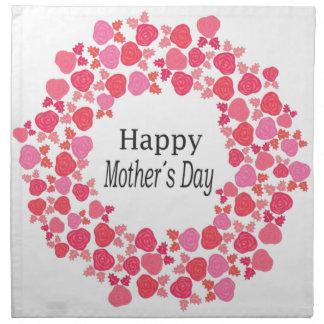 Glücklicher Mutter-mit Blumentag Serviette