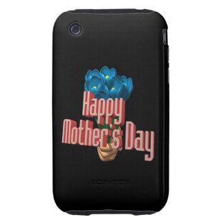 Glücklicher Mutter-Tag 3 Tough iPhone 3 Etuis