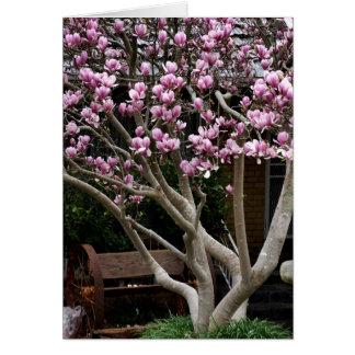 Glücklicher Mutter-Tag - Magnolien-Baum Karte