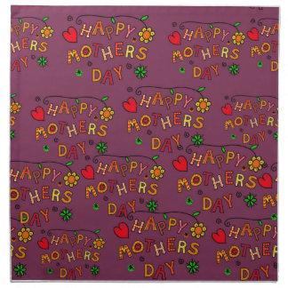 Glücklicher Mutter-Tag Serviette