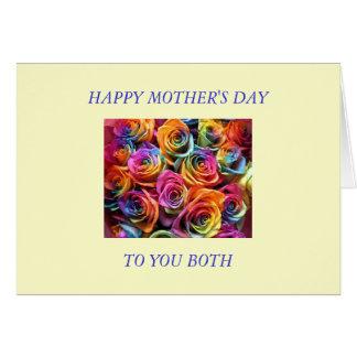 Glücklicher Mutter-Tag zu meinen zwei Mammen Karte
