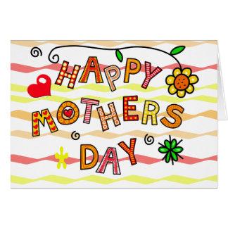 Glücklicher Muttertag Karte